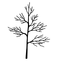 Abstract art tree black color vector image