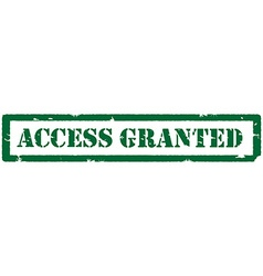 Access granted stamp vector