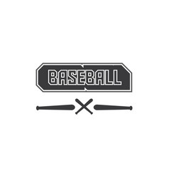 baseball black logo text in black and of a vector image
