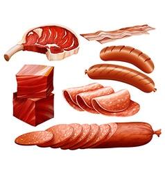 Beef set vector image