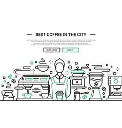 Best Coffee Shop In the City - website banner vector image