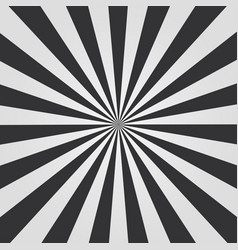 black and white sunburst vector image