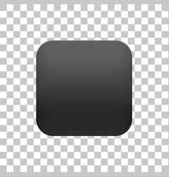Black realistic blank app icon button template vector