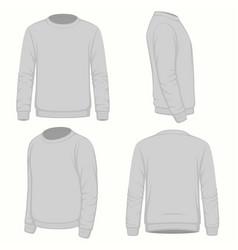 Blank hoodie sweatshirt vector