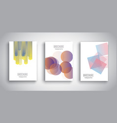brochure templates with abstract designs vector image