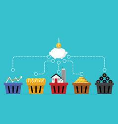 Business financial concept diversification vector