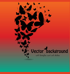 Butterflies background with text vector