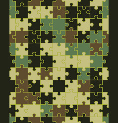 camouflage puzzle seamless vector image