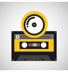 Cd compact music cassette tape vector