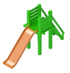 childrens slide playground isometric vector image