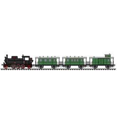 Classic passenger steam vector