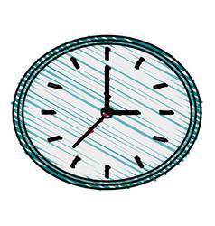 Clock doodle vector