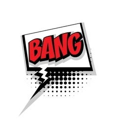 Comic text bang pop art bubble vector