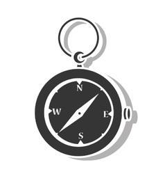Compass orienteering icon vector