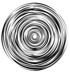 Concentric circle element made of irregular vector