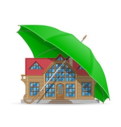 concept home under umbrella vector image