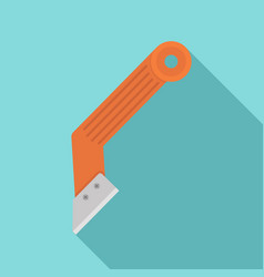 Construction knife icon flat style vector