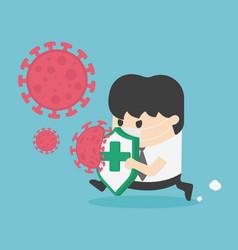 Covid-19 coronavirus protection and quarantine vector