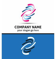Creative media logo conceptsymbol vector