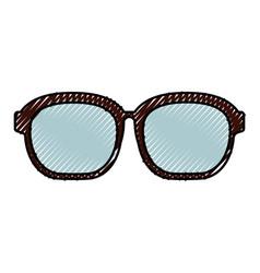 Cute scribble glasses cartoon vector