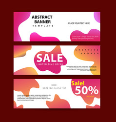 design for horizontal banners set web banners vector image