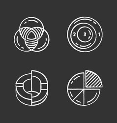 diagrams chalk icons set data graphic vector image
