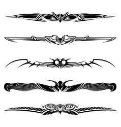 dividers tribal tattoo elements vector image