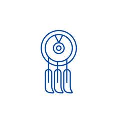 dreamcatcher line icon concept dreamcatcher flat vector image