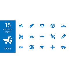 drive icons vector image