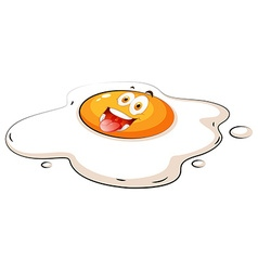 Egg yolk with happy face vector image