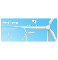 Energy concept background with wind turbine 6 vector