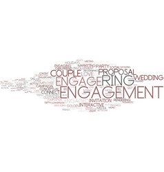 engage word cloud concept vector image