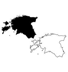 Estonia map vector