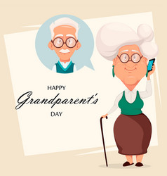 grandparents day greeting card vector image