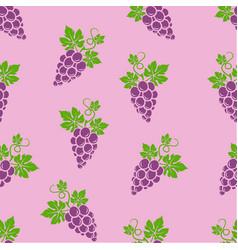 Grapes pattern seamless pantone vector