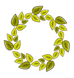 green round eco leaves vector image