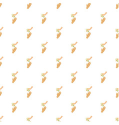 Hand giving money pattern vector