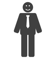 happy boss flat icon symbol vector image