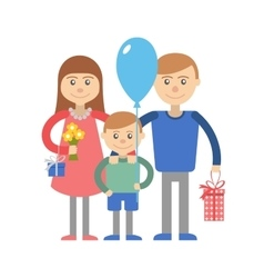 Happy family with child vector