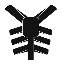 Human thorax icon simple style vector