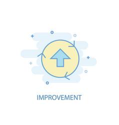 improvement line concept simple line icon vector image