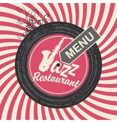 jazz restaurant menu vector image