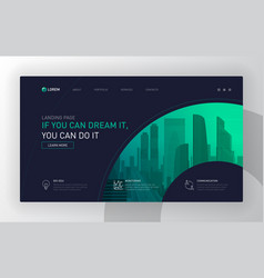 Landing page template for business vector