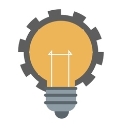 lightbulb with gear icon vector image