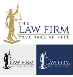 Logo law firm lady justice vector