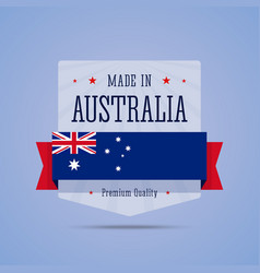 Made in Australia badge vector