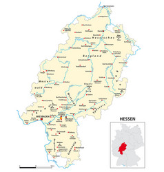 Map state hesse in german language vector