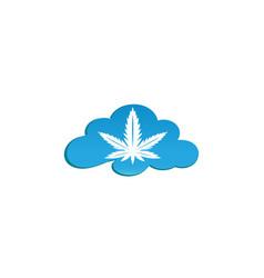 medical marijuana cannabis hemp logo design in a vector image