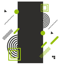 modern abstract shapes design flat elements vector image