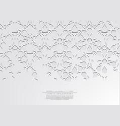 Modern arabesque floral white pattern arabic vector